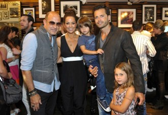 John Varvatos Event 2012 John Varvatos, Brooke Burke, David Charvet and family FashionDailyMag Selects