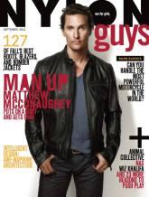 Matthew McConaughey NYLON GUYS september issue COVER pic on FashionDailyMag