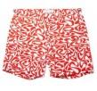 ORLEBAR BROWN red geo pattern shorts