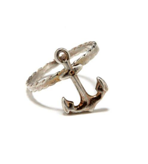 BING BANG jewelry aloha summer anchor ring on FashionDailyMag