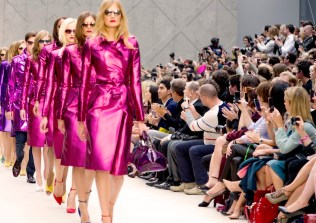 Front Row at the Burberry Prorsum Womenswear Spring-Summer 2013 Show