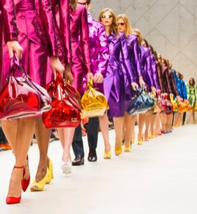 RAINBOW of accessories and shoes finale at burberry prorsum spring 2013 womens FashionDailyMag