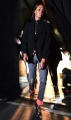 joan smalls at diesel black gold backstage on FashionDailyMag