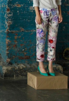 RALEIGH DENIM flower pants ss13 FashionDailyMag loves
