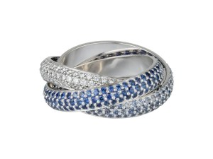 CARTIER Trinity Ring Blue Sapphire   FashionDailyMag