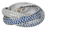 Trinity Ring- CARTIER Blue Sapphire feature | fashiondailymag
