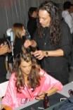 Alessandra Ambrosio and Orlando Pita AT Victoria's Secret Fashion Show-Backstage Hair and Makeup