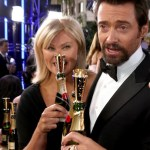 Hugh Jackman at Moet & Chandon at the 70th Annual Golden Globe Awards Red Carpet
