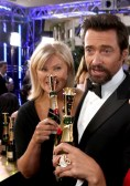 Hugh Jackman at Moet & Chandon at the 70th Annual Golden Globe Awards Red Carpet