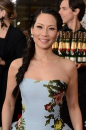 Lucy Liu with Moet & Chandon at the 70th Golden Globes