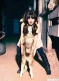 Zooey Deschanel 3 by Ellen von Unwerth for glamour feb on fashiondailymag