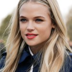 Gabriella Wilde wearing Burberry make up at the Burberry Prorsum Womenswear Autumn-Winter 2013 show