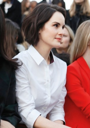 Michelle Dockery wearing Burberry make up at the Burberry Prorsum Womenswear Autumn-Winter 2013 show