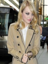 emma stone in burberry on FashionDailyMag