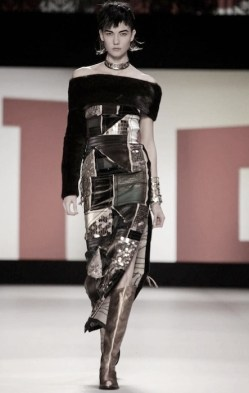 karlie kloss Jean Paul Gaultier fall 2013 FashionDailyMag sel 9