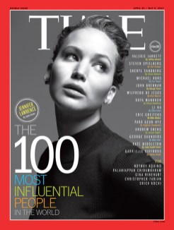 Jennifer Laurence TIME 100 on FashionDailyMag