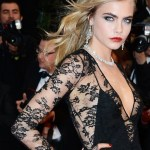 CARA DELEVINGNE in burberry at Great Gatsby premiere Cannes
