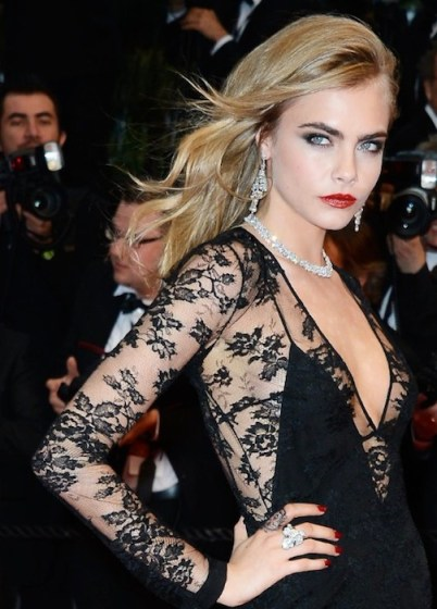 CARA DELEVINGNE in burberry at Great Gatsby premiere Cannes | FashionDailyMag