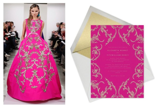 magdalena frackowiak OSCAR DE LA RENTA paperless collab | FashionDailyMag