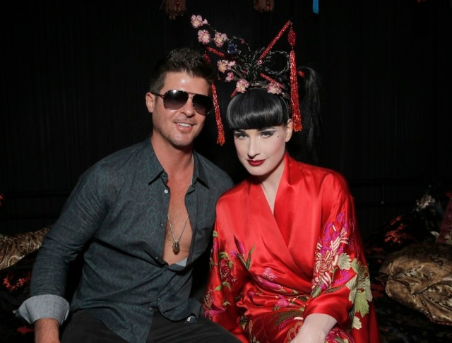 dita von teese robin thicke house of blues