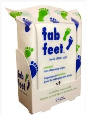 On the Go Foot cleansing wipes FashionDailyMag