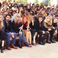 Front Row celebs BURBERRY LFW
