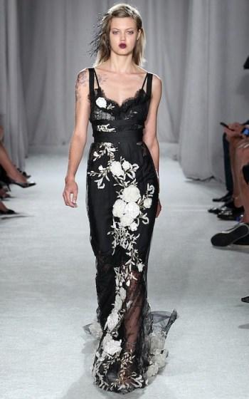 lindsey wixson MarchesaRTW Spring Summer 2014 New York Fashion Week September 2013