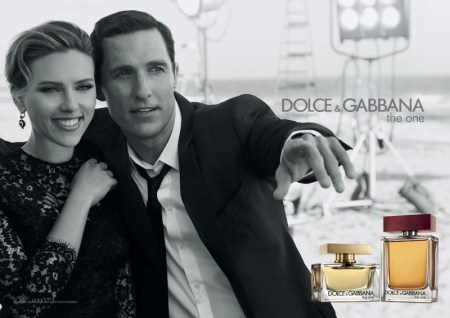 DOLCE GABBANA The One Campaign Scarlett Johansson and Matthew McConaughey fashiondailymag