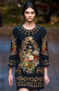 Antonina Vasylchenko Dolce e Gabanna fall 2014 FashionDailyMag sel 01