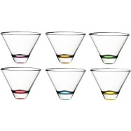JCPENNEY Confetti Set of 6 Stemless Cocktail Glasses VDAY fashiondailymag sel 16