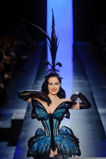 dita von teese gaultier couture spring 2014 FashionDailyMag sel finale