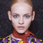ginta lapina prada backstage beauty fall 2014 FashionDailyMag