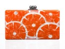 EDIE PARKER tangerine clutch FashionDailyMag sel 5