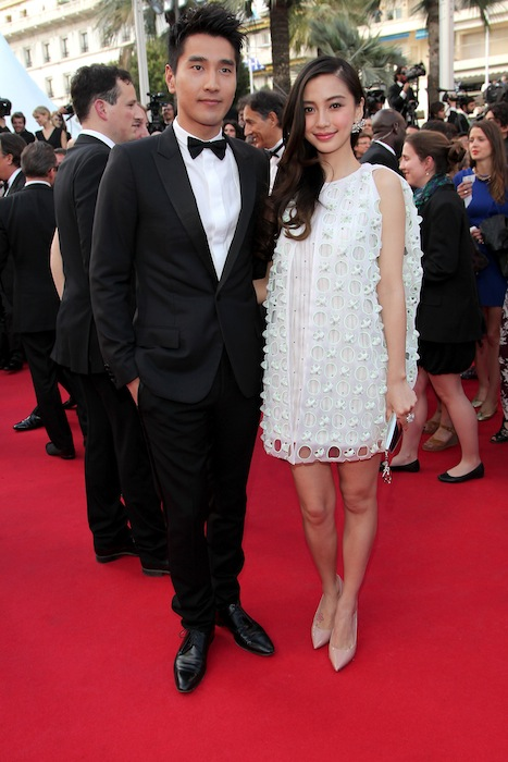 Mark Chao and Angelababy cannes film festival fashiondailymag