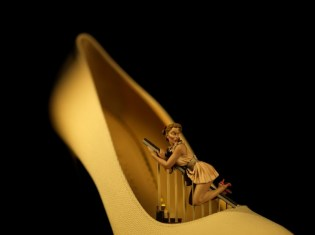 'Pin Up Shoe', fdmloves 2014, David Levinthal, Charlotte Olympia for Stepping Up For Art. Photographer David Levinthal copy