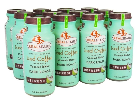 REALBEANZ iced coffee coconut water dark roast FashionDailyMag