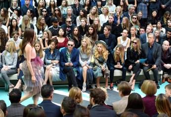 jamie campbell paloma faithe burberry front row fashiondailymag