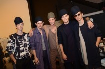 backstage Robert Geller Spring 2015 Fashion Daily Mag