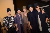 backstage Robert Geller Spring 2015 Fashion Daily Mag