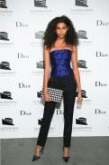 Imaan Hammam Dior at Guggenheim gala FashionDailyMag sel 1