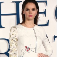 FELICITY JONES in Diamonds + Dior
