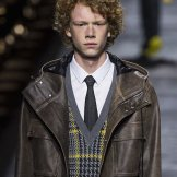 curly hair DIOR HOMME fall 2015 FashionDailyMag