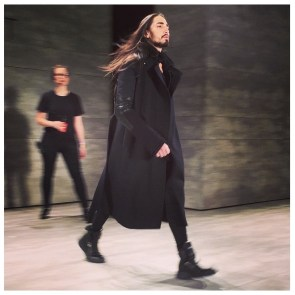 willy cartier rehearsal skingraft fall 2015 nyfw
