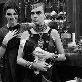 kendall jenner cara delevingne CHANEL FALL 2015 FASHIONDAILYMAG 44