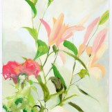 sage vaughn Cali Flower Scene, Mixed Media, 9 x 13, 2015