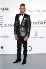 Formula One driver Lewis Hamilton attends amfAR's 22nd gala