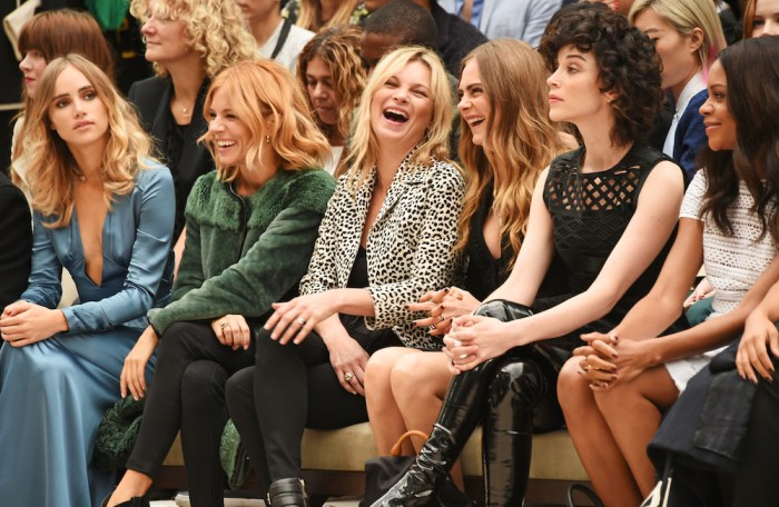 burberry s16 front row celebs FashionDailyMag 2
