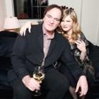 Jennifer Jason Leigh with Quentin Tarantino