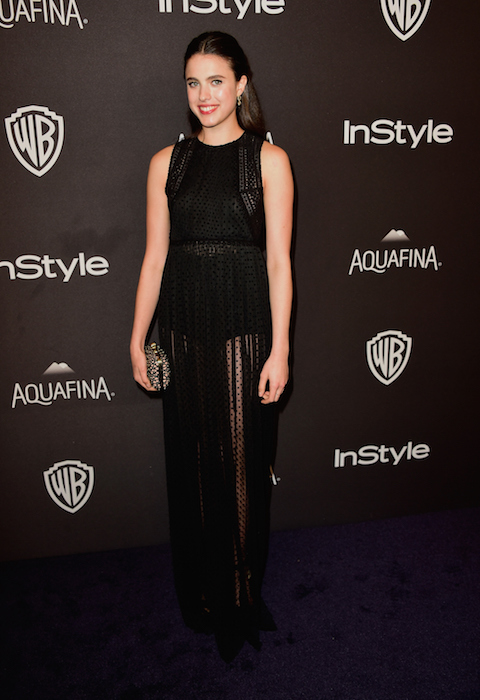 Margaret Qualley attends InStyle and Warner Bros. 73rd Annual Golden Globe Awards Post-Party