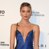 martha hunt at elton john aids foundation oscars party